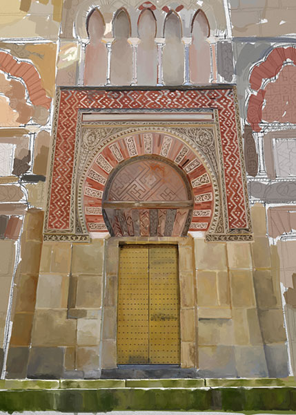 One of the entrances to the mezquita-catedral de Cordoba.